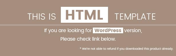 HTML Template Notice